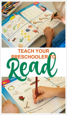 5 Tips for Teaching Reading to Preschoolers from a Veteran Teacher - Stay At Home Educator Writing Activities For Preschoolers, Handwriting Activities, Preschool Writing, Preschool Lesson Plans, Preschool Letters, Preschool Printables, Alphabet Activities, Preschool Age, Preschool Learning
