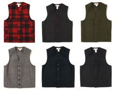 Groomsmen can wear Filson vests! Cold Wear, Fishing Vest, Rugged Style, Wool Vest, Hunting Clothes, Tailored Suits, Men Style Tips, Workwear, Well Dressed