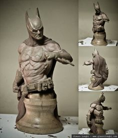 Batman Bust by glaucolonghi on deviantART