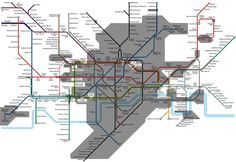 The actually underground map of the underground. 17 London Underground Maps You Never Knew You Needed London Underground Tube, Underground Map, London Map, London Travel, Train Map, Metro Map, Best Christmas Markets, Subway Map, London History