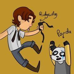 Young ridgedog and panda