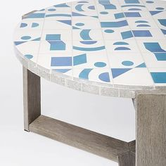 Mosaic Tiled Coffee Table - Two Tone Geo #westelm