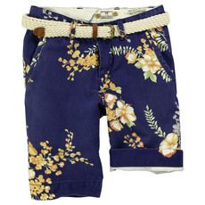 Scotch & Soda - Flower-printed chino shorts with a belt - 32829