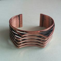 """Vintage Copper Renoir Cuff """"Interplay"""" by MothersHeartandSoul on Etsy"""