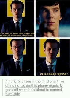 This has to be one of my favorite Moriarty faces ever. The other ones are his 'suprised' face, and most of the faces he makes at his trial.