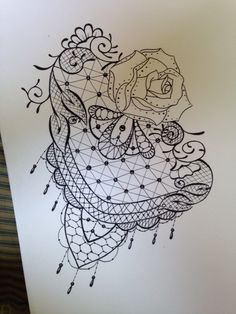 Lace tattoo design