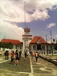 Emilio Aguinaldo Shrine, Museum and Ancestral House in Kawit, Cavite Emilio Aguinaldo, Manila, Philippines, Street View, Museum, Island, Mansions, History, House Styles