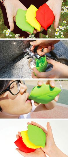 Leaf Shaped Silicone Pocket Cup! #product_design
