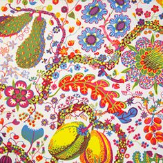 Svenskt Tenn's textiles are well known for their design and colourful prints. Josef Frank designed about 200 prints for textiles, wallpaper and carpets. Textiles, Textile Patterns, Textile Design, Fabric Design, Pattern Design, Textile Art, Josef Frank, Fruit Art, Pretty Patterns