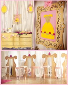 Fabulous changing area for a princess party