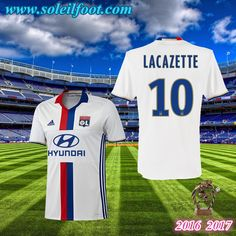 Maillot Du Lyon OL (LACAZETTE 10) Domicile 2016-2017 Pas Cheres