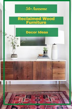 54+ Awesome Reclaimed Wood Furniture Decor Ideas #wood #woodfurniture #woodfurnituredecor Modern Wood Furniture, Reclaimed Wood Furniture, Furniture Decor, Rustic Fireplace Mantels, Contemporary Design, Decor Ideas, Cabinet, Awesome, Table