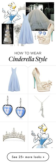"""Cinderella Wedding"" by ivyskye on Polyvore featuring Betsey Johnson, Halston Heritage and Journee Collection"