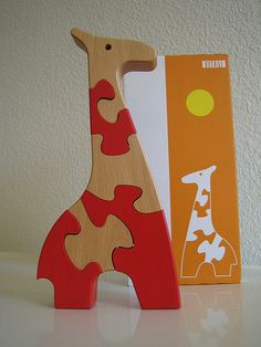 Woodworking Jigsaw Antonio Vitali Giraffe Toy Jigsaw Puzzle Holzspielzeug wooden Toys Swiss Made Woodworking Jigsaw, Woodworking Projects For Kids, Woodworking Crafts, Cool Jigsaw Puzzles, Wooden Puzzles, Kids Study Desk, Wooden Toy Trucks, Giraffe Toy, Wooden Words