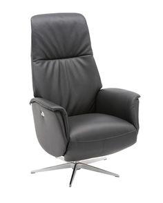 Hvilestol, recliner og suppleringsstolBorka reclinermedium  manuell, hud Soleda/pvc. Elegant base