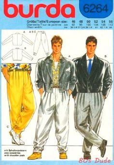 80s-dude: 80s Mens Fashion (make your own).