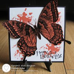 By Hayley Kew - Dynamic Duos: Dynamic Duos #62-Orange & Black with the OPTION of Butterflies