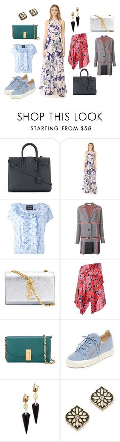 """#women wear"" by kristen-stewart-2989 ❤ liked on Polyvore featuring Yves Saint Laurent, Yumi Kim, Boutique Moschino, Belford, Carven, Marc Jacobs, Giuseppe Zanotti, Alexis Bittar, Kate Spade and vintage"