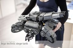 #LEGO Siege Tank #Starcraft via Reddit user igotbadtricks