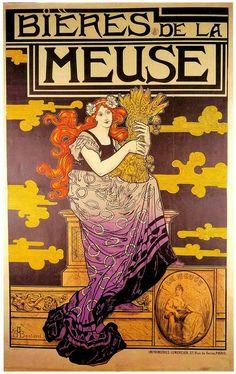 Bieres de la Meuse 1896 Vintage