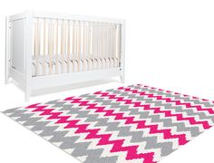Decorative Rug, Chevron Area Rug, Area Rug 5x8, Hot Pink Rug, Rugs Chevron, Teen Room Decor, Pink and Grey Chevron Nursery, Pink Dorm Decor