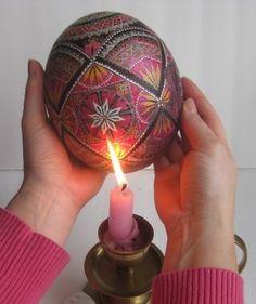 Ostrich Egg pysanka - Ukrainian Easter egg