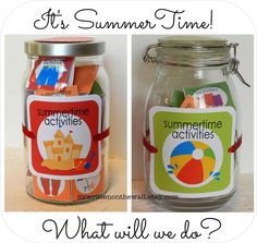 SummerTime Activity Jar for the Kids-Summer Just Became MORE FUN (and organized)  Its Written on the Wall: