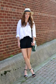 Casual White Button-Up Style | MarahCAR