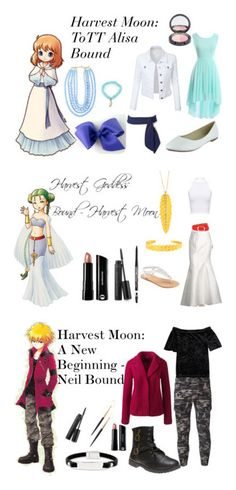 """""""Harvest Moon/Story of Seasons"""" by athena-parthenos ❤ liked on Polyvore featuring art"""