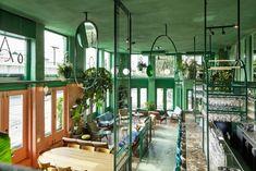 Studio Modijefsky reflects tropical scenery at Bar Botanique via Frameweb.com