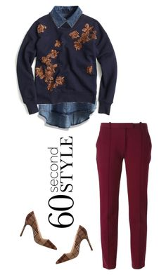 """""""60 Second Style: Daytime Sequins"""" by musicfriend1 ❤ liked on Polyvore featuring Chicwish, J.Crew, Manolo Blahnik, Tory Burch, Sequins and daytime"""