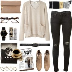 A fashion look from April 2014 featuring Hope sweaters, rag & bone jeans and Anonymous Ism socks.