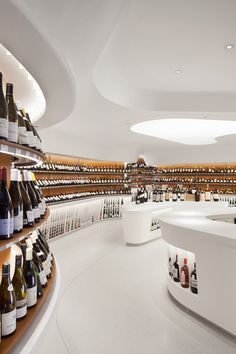 Dutch online wine seller Grapy hired the Amsterdam-based Storeage to design its first physical selling space. Located in the Het Verbogen Rijk bookstore in Roosendaal, the shop-in-shop helps integrate the bookstore's wine and cook books with the wine.