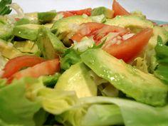 ensalada de aguacate con lechuga y limon | Ensalada de lechuga con aguacate. Receta de ensalada. | Tapas y ...