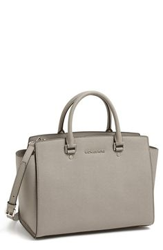 MICHAEL Michael Kors \u0027Selma - Large\u0027 Leather Satchel available at just got  mine at MK.