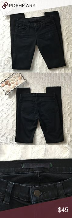 J. Brand Jeans pencil leg dark blue wash 27 Inseam: 33 1/2 inches Length: 40 1/2 inches Waist: (flat lay) 15 inches J Brand Jeans Skinny