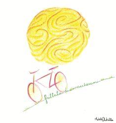 """Frittata di maccheroni """"en plein air"""", illustration and recipe for 'Design al dente' book. Adele Rotella"""