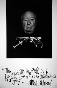 Philippe Halsman-1975. Alfred HITCHCOCK, for the film Family Plot.
