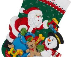 Bucilla Christmas Stocking Tree Shopping by HollyCreations on Etsy