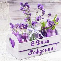 Photo about Lavender in bottles, decor provance style, wooden box and birdcage on crochet tablecloth. Image of kitchen, clean, lavender - 41922296 Birthday Wishes, Birthday Cards, Happy Birthday, Summer Decoration, Lilac Wedding, Crochet Tablecloth, Happy B Day, Flower Pictures, Bird Cage