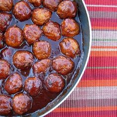 Maple Meatballs With Maple Syrup, Chili Sauce, Chives, Soy Sauce, Ground Mustard, Cooked Meatballs