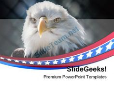 Bald Eagle Americana PowerPoint Templates And PowerPoint Backgrounds 0311 #PowerPoint #Templates #Themes #Background