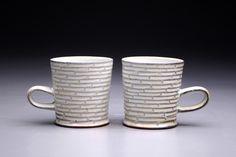 recent work - Stuart Gair Ceramics #cups # mug #ceramics #pottery #art #stuartgair #sodafired #stroneware