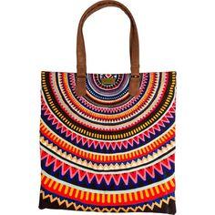 Rip Curl Pixie Beach Bag ($54) ❤ liked on Polyvore featuring bags, handbags, zipper bag, beach tote bags, rip curl, zip bags and beach bag