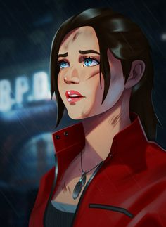 Resident Evil Anime, Resident Evil Girl, Fantasy Heroes, Magic Eyes, Just A Game, Video Game Characters, Character Portraits, Star Wars Art, Game Art