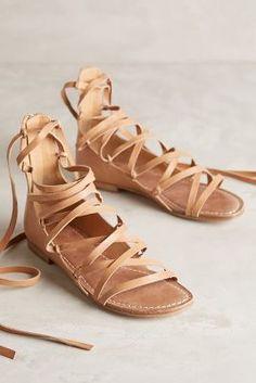 Belle by Sigerson Morrison Appa Gladiator Sandals Nude Sandals #anthroregistry