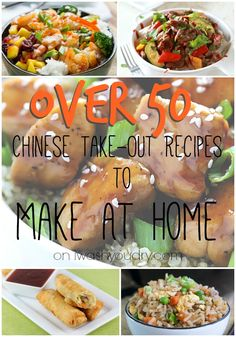 Chinese Take Out at Home (50+ Recipes To Make At Home)