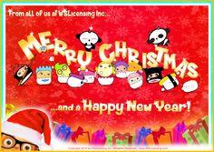 Happy Holidays everyone! #reindeer #santa #christmas #sushisix #ninjamaki #himeshrimp #alohatuna #captaintako #bikerikura #lovetamago #cocoarico #vanillalou #berrybella #bananlona #keylimejude #miniboo #berrysofi #goyammyyammy #pandaj9 #junkyardzombiez #WSLicensing