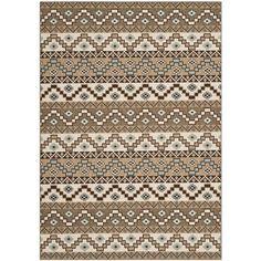 Safavieh Indoor/ Outdoor Veranda Cream/ Brown Rug (5'3 x 7'7) - Overstock™ Shopping - Great Deals on Safavieh 7x9 - 10x14 Rugs