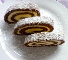 Vaníliás krémmel töltött kókusztekercs - Recept | Femina Pancakes, Muffins, Cupcake, Food And Drink, Easter, Sweets, Snacks, Baking, Breakfast